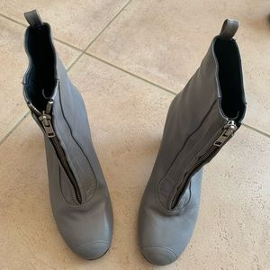 Acnes Studios gray leather boots
